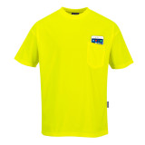Portwest S578 - Day-Vis rövidujjú zsebes póló, sárga