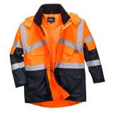 Portwest S760 - Hi-Vis kéttónusú lélegző dzseki, narancs/tengerészkék