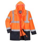 Portwest S766 - Essential 5 az 1-ben jólláthatósági kabát, narancs/tengerészkék