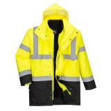 Portwest S766 - Essential 5 az 1-ben jólláthatósági kabát, sárga/fekete