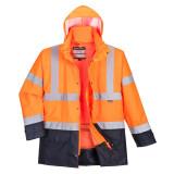 Portwest S768 - Jól láthatósági lélegző 5 az 1-ben kabát, narancs/tengerészkék