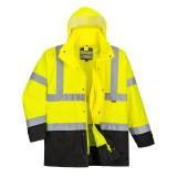 Portwest S768 - Jól láthatósági lélegző 5 az 1-ben kabát, sárga/fekete