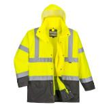 Portwest S768 - Jól láthatósági lélegző 5 az 1-ben kabát, sárga/szürke