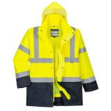 Portwest S768 - Jól láthatósági lélegző 5 az 1-ben kabát, sárga/tengerészkék