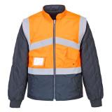 Portwest S769 - Jól láthatósági kifordítható dzseki, narancs/tengerészkék