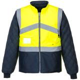 Portwest S769 - Jól láthatósági kifordítható dzseki, sárga/tengerészkék