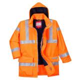 Portwest S778 - Bizflame Rain Hi-Vis antisztatikus FR bélelt kabát, narancs