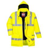 Portwest S778 - Bizflame Rain Hi-Vis antisztatikus FR bélelt kabát, sárga