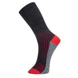 Portwest SK12 - Hiker zokni, fekete/piros