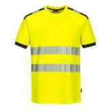 Portwest T181 - PW3 Hi-Vis jól láthatósági póló, sárga/szürke