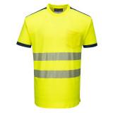 Portwest T181 - PW3 Hi-Vis jól láthatósági póló, sárga/tengerészkék
