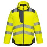 Portwest T400 - PW3 Hi-Vis téli kabát, sárga/szürke