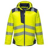 Portwest T400 - PW3 Hi-Vis téli kabát, sárga/tengerészkék