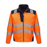 Portwest T402 - PW3 Hi-Vis softshell kabát, narancs/tengerészkék
