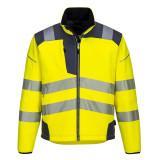 Portwest T402 - PW3 Hi-Vis softshell kabát, sárga/szürke