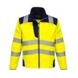 Portwest T402 - PW3 Hi-Vis softshell kabát, sárga/tengerészkék