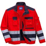 Portwest TX50 - Lille Hi-Vis kabát, piros/tengerészkék