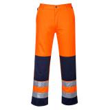 Portwest TX71 - Seville Hi-Vis nadrág, narancs/tengerészkék