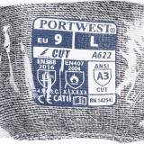 Portwest VA622 - PU tenyérmártott vágásbiztos kesztyű automatákhoz, Cut 5, szürke