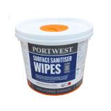 Portwest WIW50 - Felület fertőtlenítő kendő, fehér, 225db/csomag