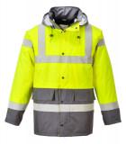 Portwest S466 - Kontraszt Traffic kabát, sárga/szürke