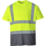 Portwest S378 - Kéttónusú pólóing, sárga/szürke