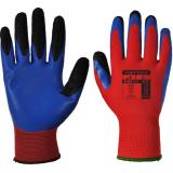 Portwest A175 - Duo-Flex latex kesztyű, piros/kék