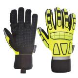 Portwest A725 - Safety Impact védőkesztyű, bélelt, sárga