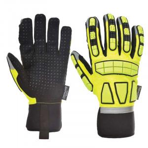 Portwest A725 - Safety Impact védőkesztyű, bélelt, sárga termék fő termékképe