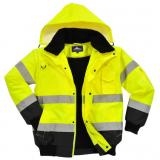 Portwest C465 - Jól láthatósági bomber dzseki, sárga/fekete