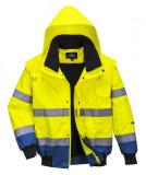 Portwest C465 - Jól láthatósági bomber dzseki, sárga/királykék
