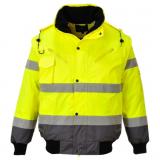 Portwest C465 - Jól láthatósági bomber dzseki, sárga/szürke