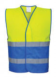 Portwest C484 - Hi-Vis kéttónusú mellény, sárga/királykék