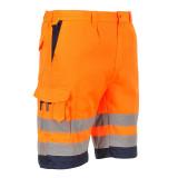 Portwest E043 - Jól láthatósági rövidnadrág, narancs/tengerészkék