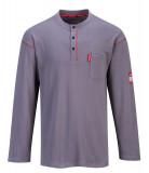 Portwest FR02 - Bizflame gombos hosszúujjú póló, szürke