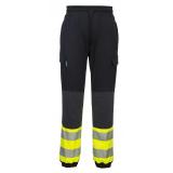 Portwest KX341 - KX3 Hi-Vis Flexi nadrág, fekete/sárga