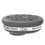 Portwest P941 - P3 részecskeszűrő bajonett csatlakozással, 6db/csomag