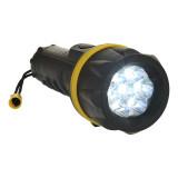 Portwest PA60 - 7 LED gumi zseblámpa, sárga