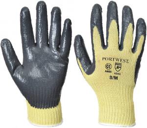 Portwest A600 - Nitril tenyérmártott kesztyű Cut 3, sárga/szürke termék fő termékképe