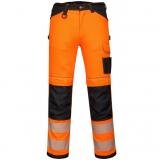 Portwest PW340 - PW3 Hi-Vis nadrág, narancs/tengerészkék