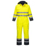 Portwest S775 - Bizflame Rain Hi-Vis antisztatikus, bélelt FR overál, sárga