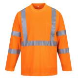 Portwest S191 - Hi-Vis hosszú ujjú póló zsebbel, narancs