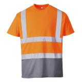 Portwest S378 - Kéttónusú pólóing, narancs/szürke