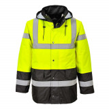 Portwest S466 - Kontraszt Traffic kabát, sárga/tengerészkék