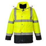Portwest S471 - Hi-Vis 4 az 1-ben Contrast Traffic kabát, sárga