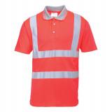 Portwest S477 - Jól láthatósági rövidujjú pólóing, piros