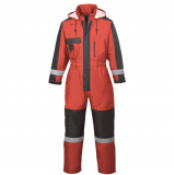 Portwest S585 - Téli overál, piros/fekete