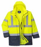 Portwest S766 - Essential 5 az 1-ben jólláthatósági kabát, sárga/tengerészkék
