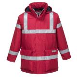 Portwest S785 - Bizflame antisztatikus lángálló esőkabát, piros