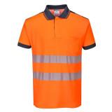 Portwest T180 - PW3 Hi-Vis jól láthatósági pólóing, narancs/tengerészkék